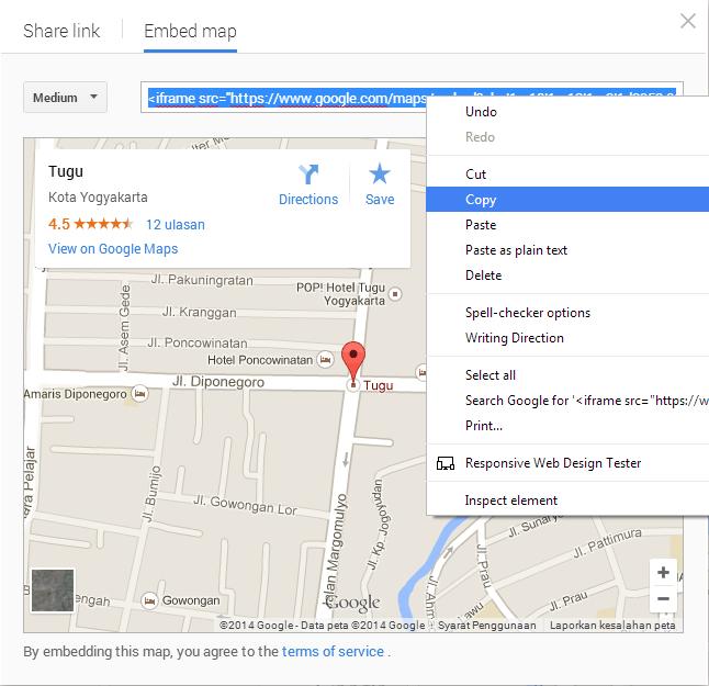 embed google maps