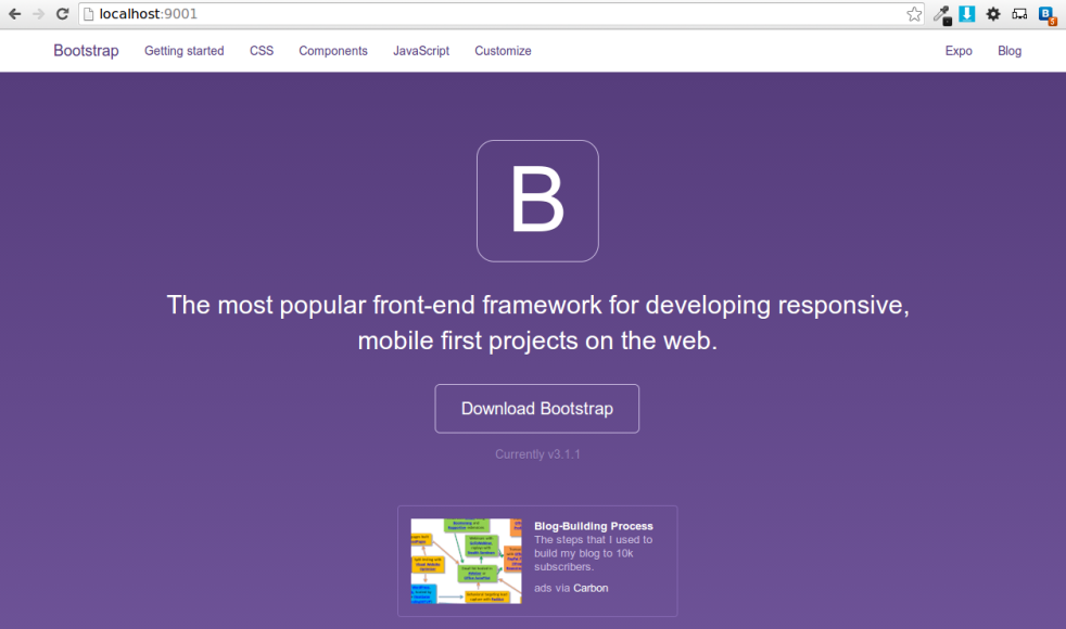 Twitter Bootstrap 3.1.1 Offline Localhost