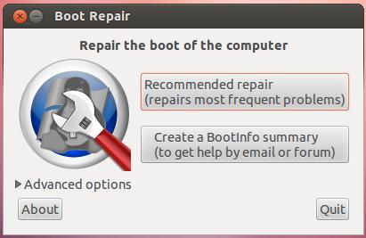 memperbaiki grub ubuntu linux mint rusak boot repair