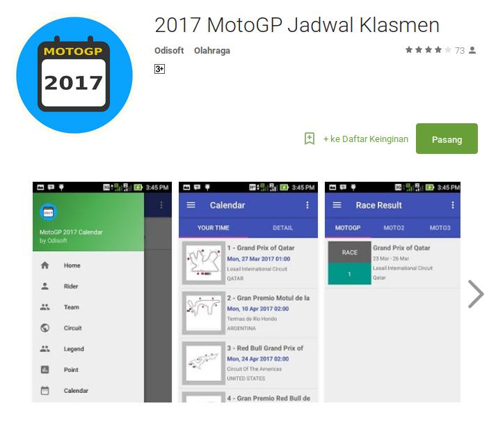 jadwal motogp calendar 2017